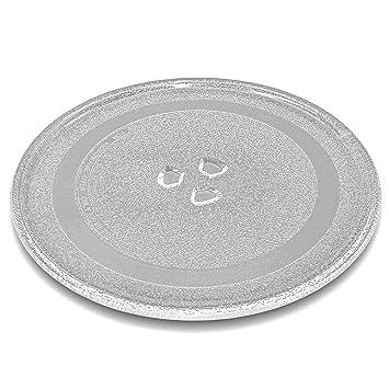 vhbw vidrio plato para microondas, plato giratorio de 24.5cm con soporte en Y para microondas Panasonic NN-K103, NN-K133, NN-SD277: Amazon.es: Hogar