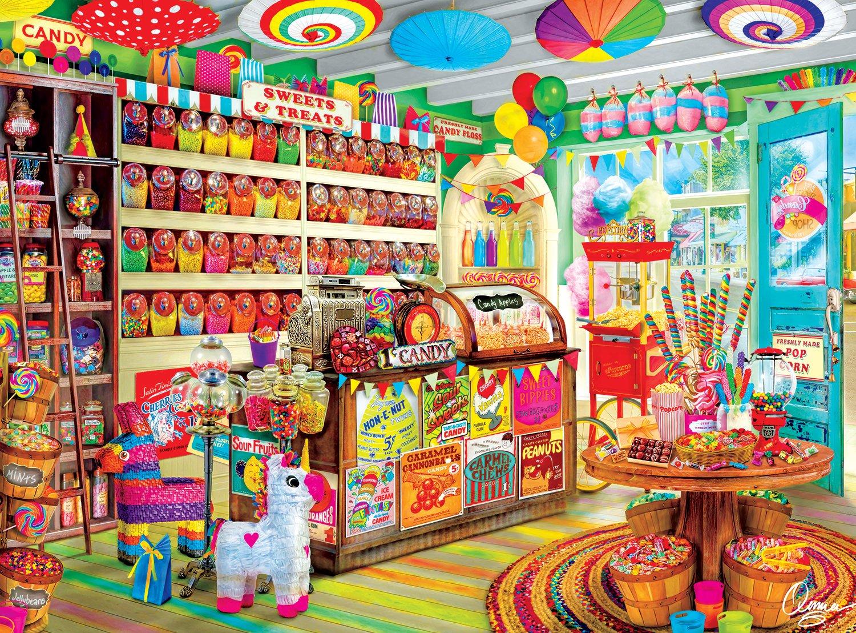 Buffalo Games - Aimee Stewart - Corner Candy Store - 1000 Piece Jigsaw Puzzle