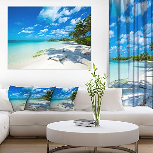 Plexiglass Coastal Wall Art Romantic Sunset Decor Tropical Palm Trees on Metal