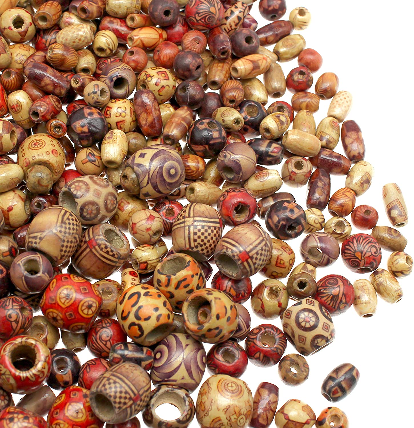 Colorful Clip Wooden Beads For Craft For Jewellery Making Necklace Bracelet Beads