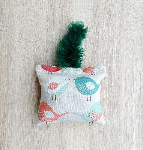 Juguete pateador de hierba gatera para gato con plumas, Juguete pateador de catnip para gato