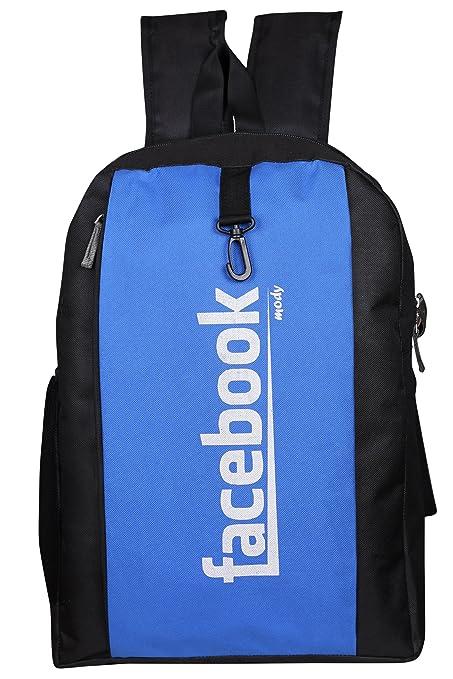 50e6ff019388 FACEBOOK printed  Laptop Bag   Backpack  (Blue) by LAPAYA-RAAMA  Amazon.in   Bags
