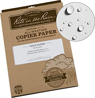 """product image for Rite In The Rain Weatherproof Copier Paper, 8 1/2"""" x 11"""", 20# Gray, 200 Sheet Pack (No. 8511GY)"""
