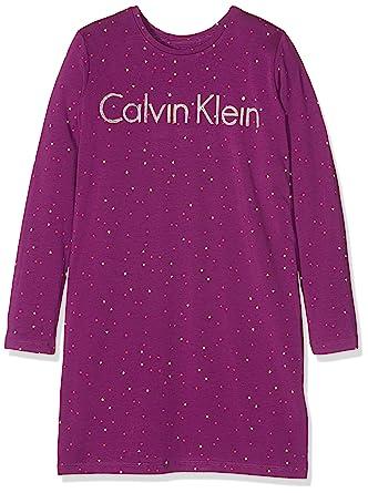 Calvin Klein Dress, Camisón para Niñas, Morado (Bold Violet Pr Lg),