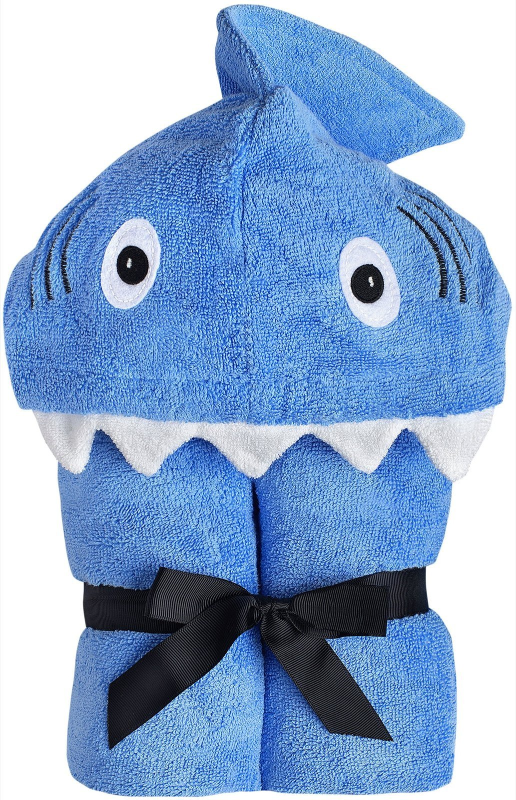Yikes Twins Child Hooded Towel - Blue Shark by Yikes Twins