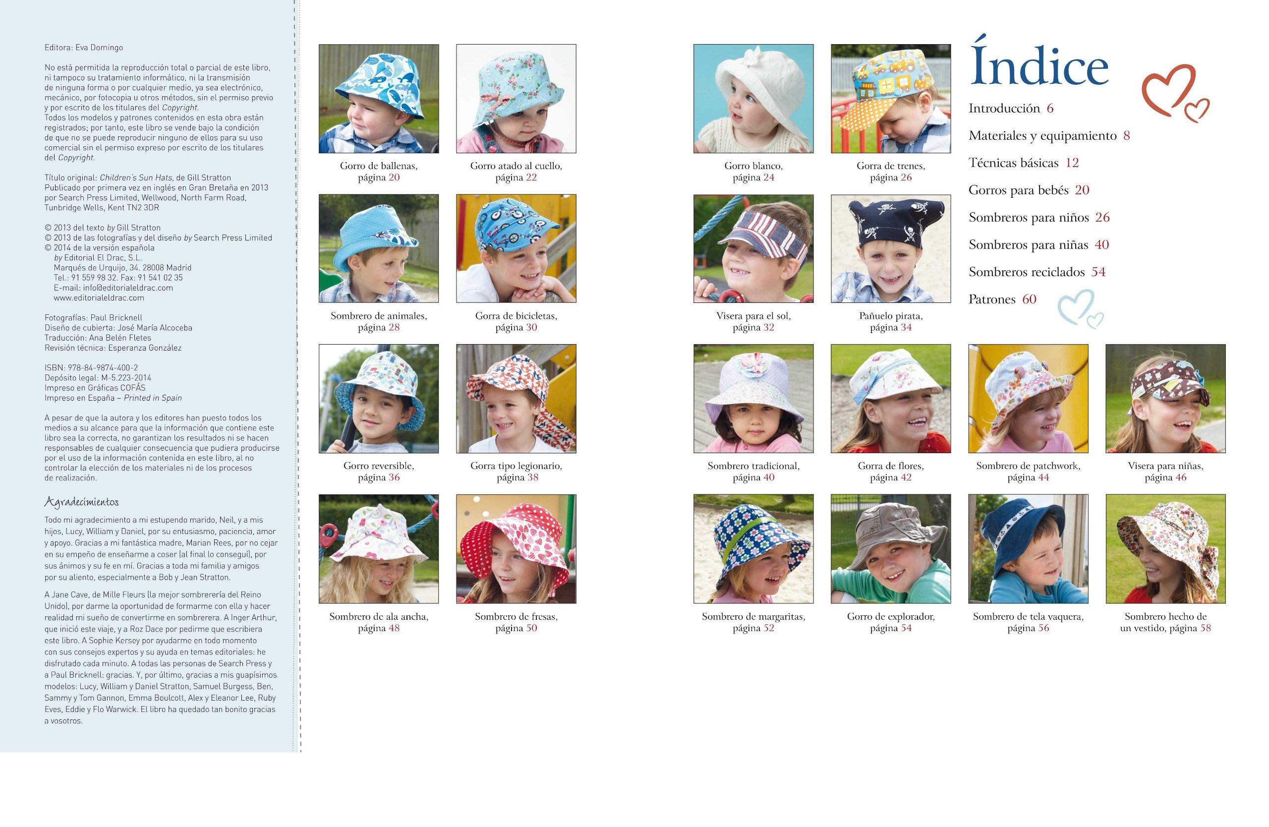 Sombreros, gorras y biseras para niños: STRATTON(744002): 9788498744002: Amazon.com: Books