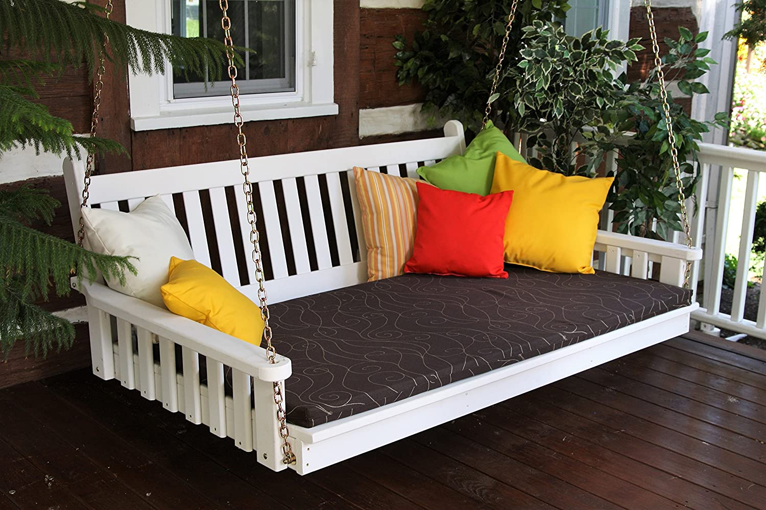 PORCH FURNITURE SWING BED, 6' Swinging Daybed