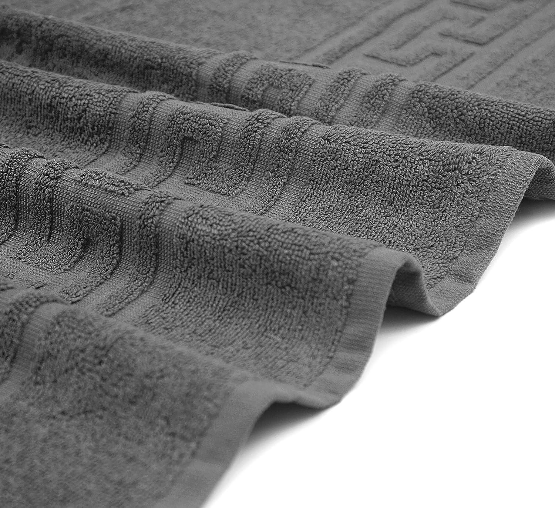 2 toallas de cara CASA COPENHAGEN Dinamarca Soft Linen Premium Juego de 6 toallas de cocina y ba/ño de algod/ón negro oscuro 2 toallas de ba/ño tama/ño king, 2 toallas de mano, 2 toallas de cara