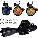 OTW Rifle Scope 4-16x50EG 3 in 1 Reflex Sight Combo with Red Dot Gun Sight Laser & Red/Green 4 Reticle Holographic & 20mm Picatinny Weaver Rail Mount for for Gun Handgun Rifle AR15 Rifle