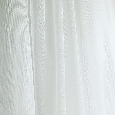 Tela de tul de color marfil/blanco roto para ocasiones especiales de 150cm