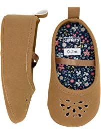 Carter s Baby Girl Soft Sole Brown Perferated Mary Jane Dress Shoe