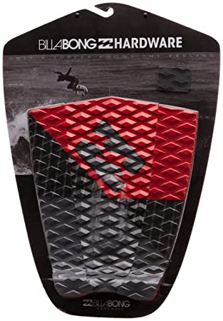 Billabong Break It - Cubierta antideslizante para tabla de surf, color rojo y negro