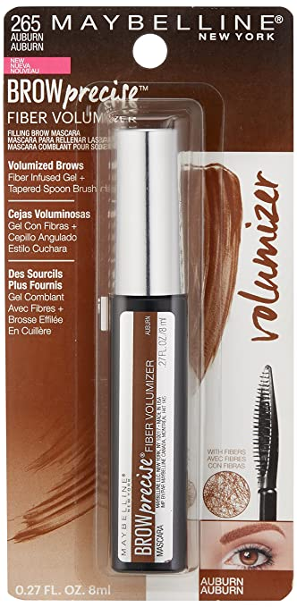 Amazon.com: Maybelline Brow Precise Fiber Volumizer Eyebrow Mascara, Auburn, 0.27 fl. oz.: Prime Pantry