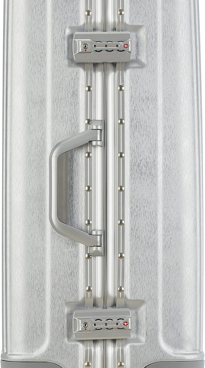 Silver Color Option Color-Coordinated Accents WIDE-BODY TPRC 20 Luna Collection Carry-On Luggage with Sturdy Aluminum Frame and Dual TSA Locks