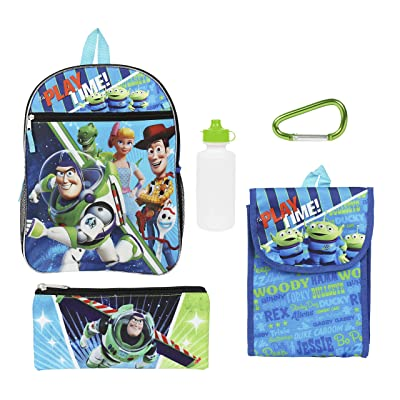 Disney Toy Story 4 Blue and Green Back to School Essentials Value Set | Kids' Backpacks