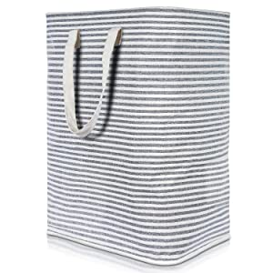"Lifewit 23.6"" Laundry Hamper Clothes Hamper Large Basket with Extended Handles for Storage Clothes Toys in Bedroom, Bathroom, Foldable, Grey"