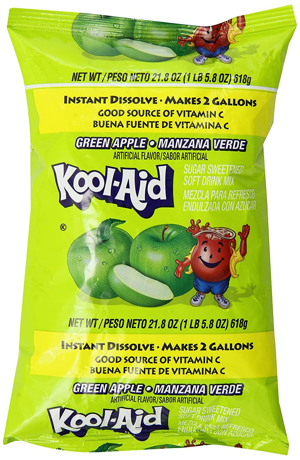Amazon.com : Kool-Aid Flavored Drink Mix, Unsweetened Green Apple, 0.22 Ounce Packets (Pack of 192) : Grocery & Gourmet Food