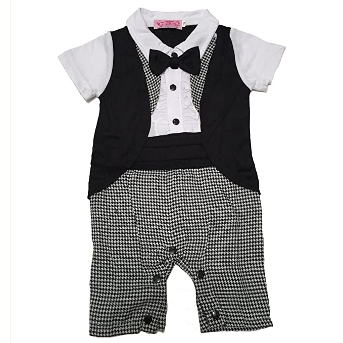 7c22f9c53 Lexikind Tuxedo Onesie For Boys  Baby Romper Dinner Jacket Suit With ...