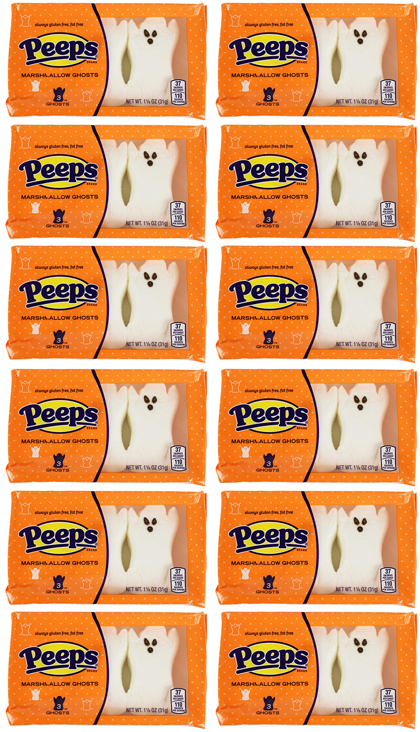 Set of 36 Peeps Marshmallow Ghosts - Great for Halloween Parties and Gifts! by Guckt