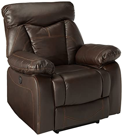 Amazon Zimmerman Power Glider Recliner With Pillow Arms Dark Best Zimmermans Furniture Model