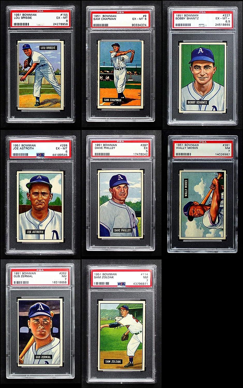 1951 Bowman Philadelphia Athletics (A's) Team Set Philadelphia Athletics (Baseball Set) Dean's Cards 6 - EX/MT Athletics