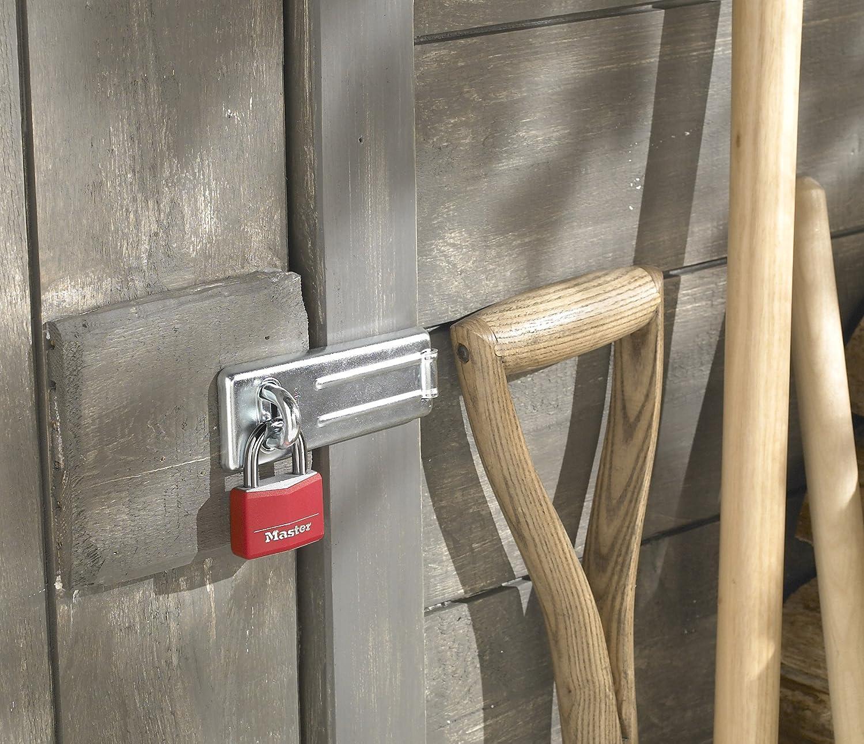 Master Lock 9141EURQCOLNOP Lot de 4 cadenas en aluminium recouverts de vinyle 40 mm