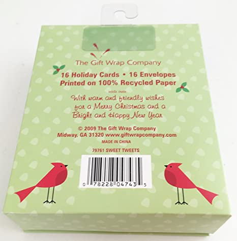 Amazon.com: The Gift Wrap Company Recycled Paper Boxed Christmas ...