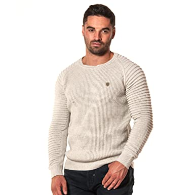 3df3a745 883 Police Mens Don ECRU Regular Fit Knitwear Knitted Crew Neck Jumper  Sweater: Amazon.co.uk: Clothing