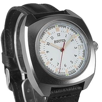 Vostok Komandirskie 2414 861876 - Reloj mecánico, diseño del ejército militar ruso: Amazon.es: Relojes
