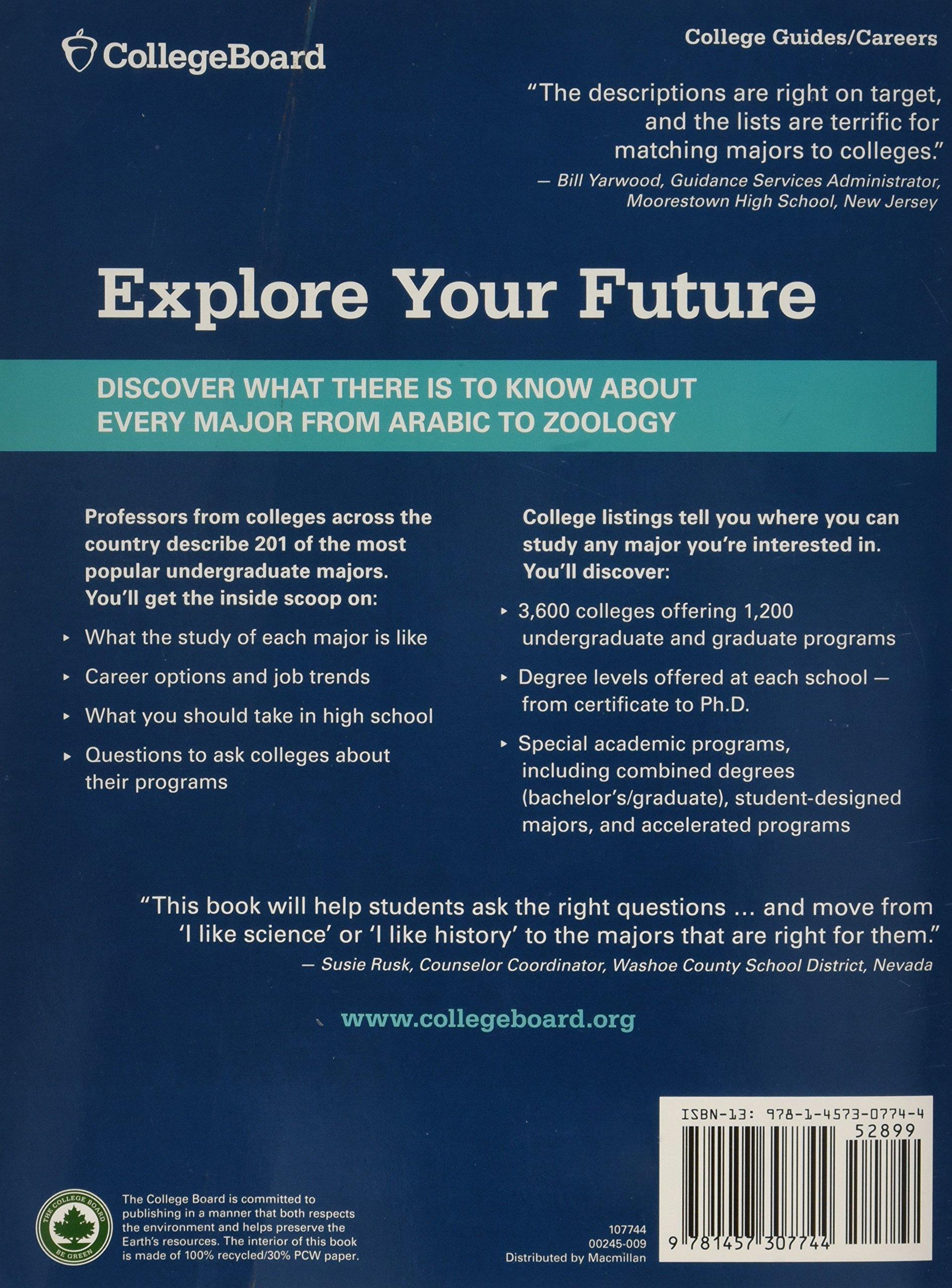 book of majors college board pdf