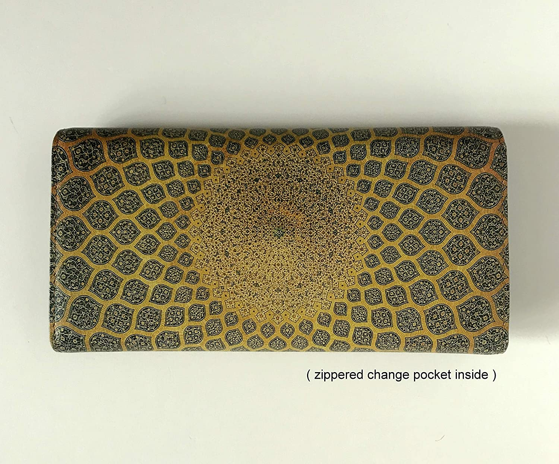 eba43b2d7580 Women's Leather Wallet Turkish Pattern Wallet Gold Mosaic Tile ...