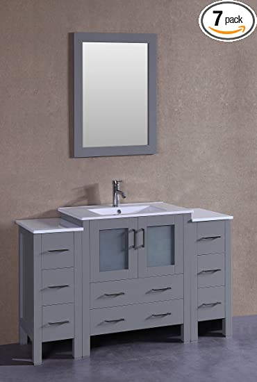 Bosconi Bathroom Vanities 54 Classic Single Vanity With Integrated