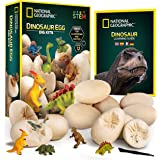 NATIONAL GEOGRAPHIC Dinosaur Dig Kit – 12 Dino Egg Shaped Dig Bricks with Dinosaur Figures Inside, Party Activity Comes…