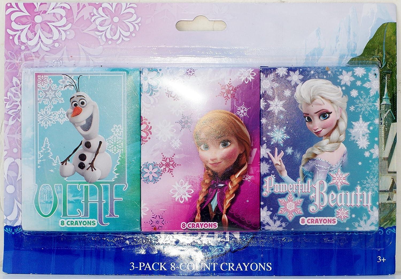 Disney Frozen 3 Pack of 8 Count Crayons