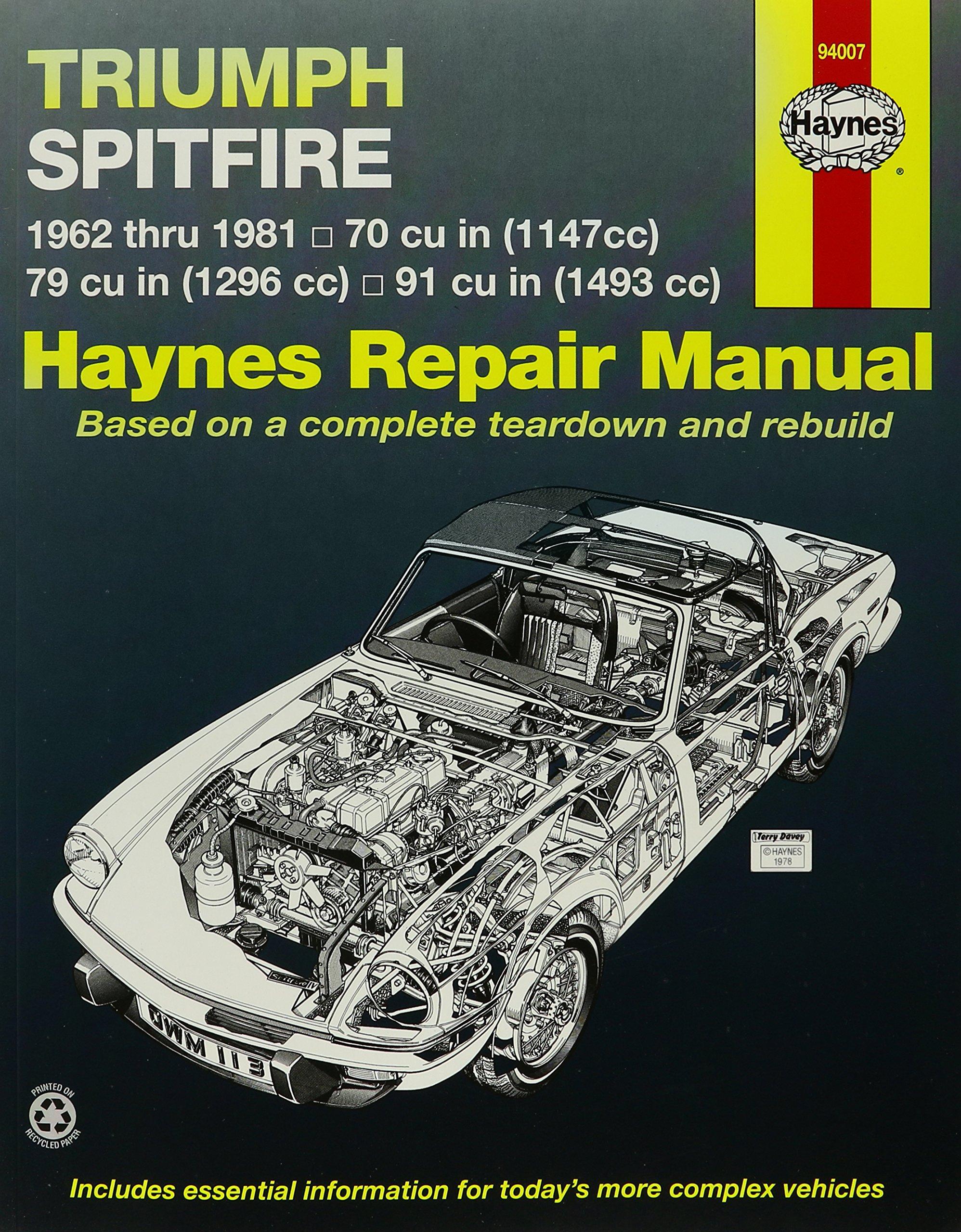 Triumph Spitfire Mk.1, 2, 3, 4 & 1500 1962-81 Owner's Workshop Manual  (Service & repair manuals): Amazon.co.uk: Peter G. Strasman, J. H. Haynes:  ...