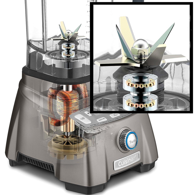 Cuisinart CBT-2000 Batidora de vaso 1.8L - Licuadora (1,8 L, 1500 RPM, 25000 RPM, LCD, Batidora de vaso, Acero inoxidable): Amazon.es: Hogar