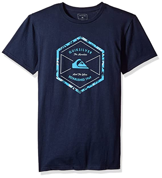 Amazon.com  Quiksilver Men s Octa Logo T-Shirt, Navy Blazer, S  Clothing c604d61e6f
