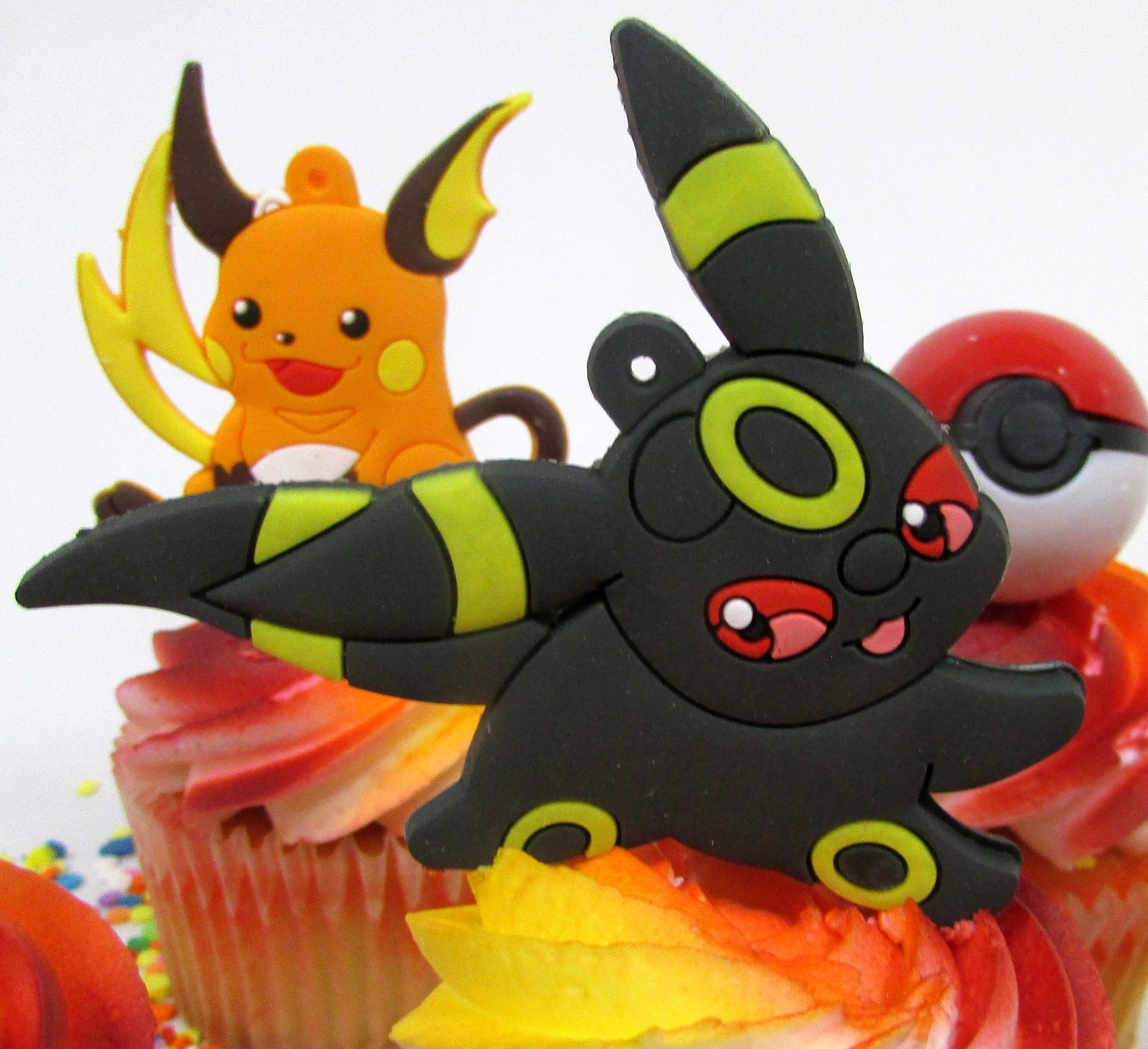 Pikachu and Friends Cupcake Topper Set with 6 Random Pocketmonster Characters and 6 Poke Balls by Cupcake Topper (Image #3)