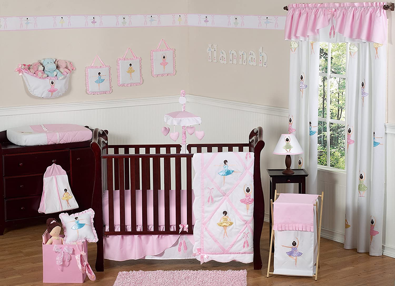 Amazon.com : Ballet Dancer Ballerina Pink and white Baby Girl Bedding 11pc Crib  Set without bumper : Baby - Amazon.com : Ballet Dancer Ballerina Pink And White Baby Girl