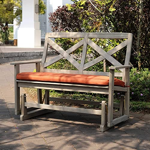 Cambridge Casual Solid Wood West Lake 4' Glider Bench Cushion