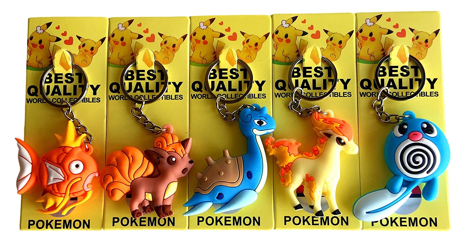 Pokémon Keychains 3D Double Sided 4-7 cm (Eevee, Snorlax, Porygon, Meowth, and Farfetch'd) and Farfetch'd) Ltd.