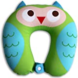 Nido Nest Kids Travel Neck Pillow - Best for Long Flights, Road Trips & Birthday Gifts For Kids - U-Shaped Pillows Sized for Toddler, Preschool, Kindergarten, Elementary Children - OWL
