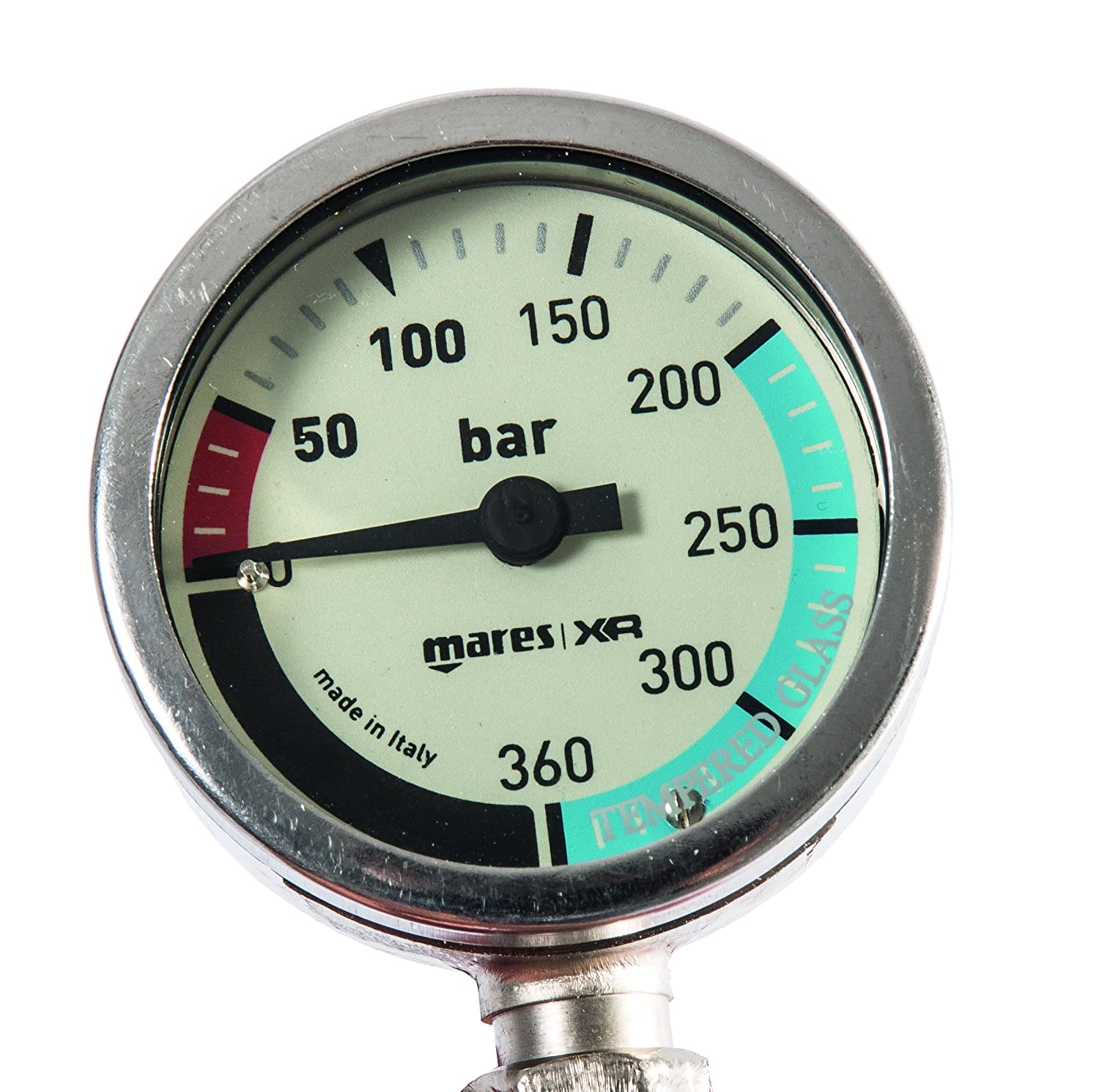 Mares XR Line SPG52 BAR Pressure Gauge with 56cm Hose 414600