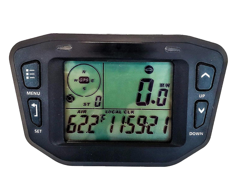 GPS Speedometer Digital Backlit LCD Display Gauge Kit Odometer