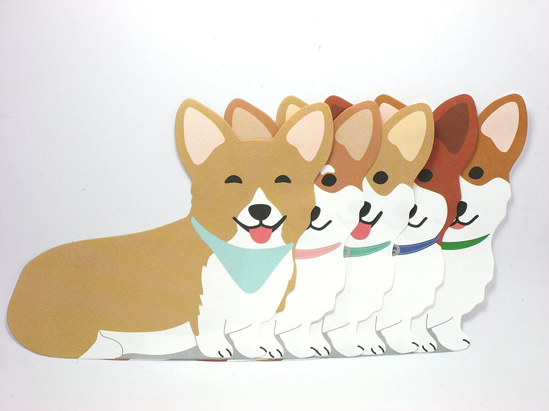 amazon com welsh corgi dog die cut memo pad 4 75