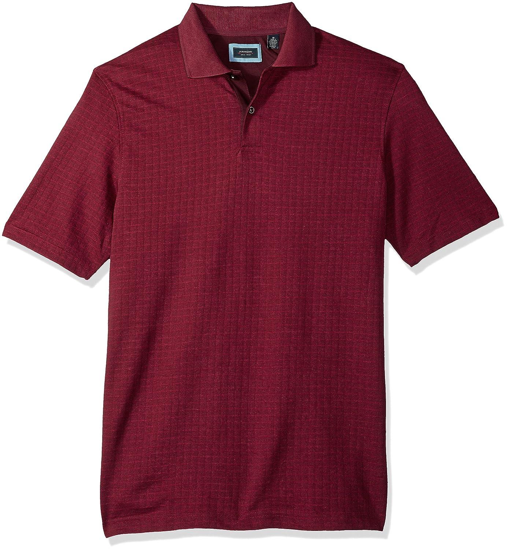 Arrow 1851 Mens Hamilton Short Sleeve Jacquard Polo Shirt