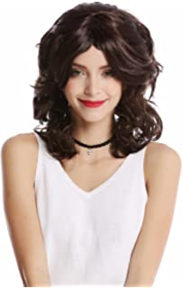 XH-083-ZA2 Lady Party Wig Halloween Carnival volume curly curls bangs dark brown WIG ME UP /®