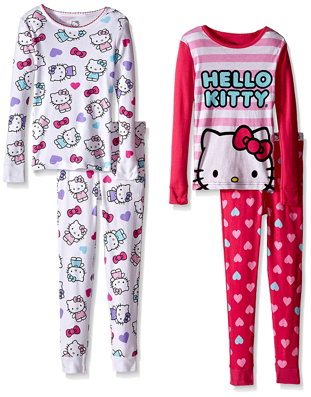 Hello Kitty Girls Big Snowflake Hooded Robe