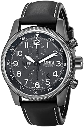 Oris hombre 67576484234ls gran corona pantalla analógica Swiss - Reloj automático negro: ORIS: Amazon.es: Relojes