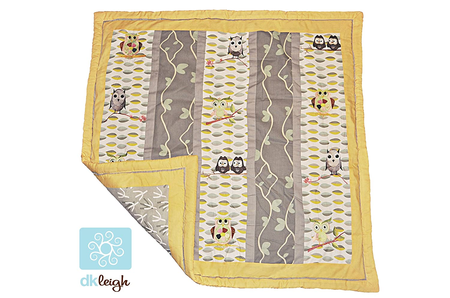 Leigh gender neutral 10pc owl baby crib bedding set grey yellow green - Amazon Com Dk Leigh Owl 7 Piece Gender Neutral Crib Bedding Set Yellow Green Owl Baby Crib Bedding Sets Baby